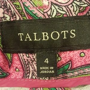 Talbots Shorts - Talbots Paisley Bermuda Shorts Size 4